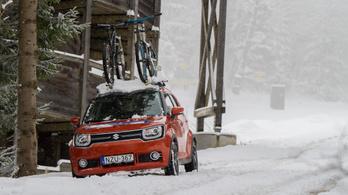 Ki a király hóban: a bringa vagy a Suzuki?