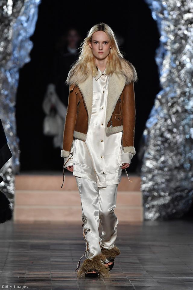 Pizsamával hordjuk a bélelt bőrdzsekit a Sonia Rykiel szerint.