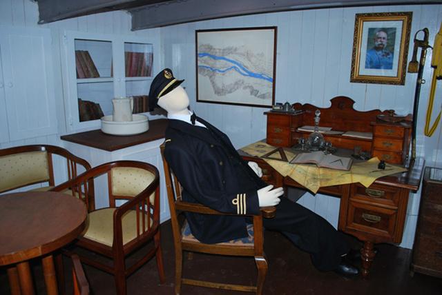Az eredeti állapotokat láthatják az érdeklődők a közel százötven éves hajón