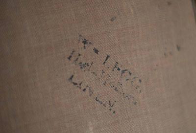 A Rice portré hátulján található pecsét, ami a National Portre Gallery szakértője szerint William Legg műkereskedő jelzése