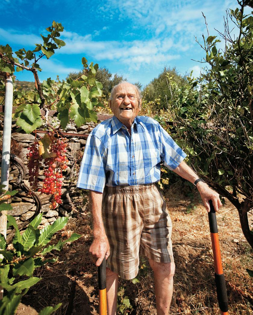 Stamatis Moraitis példája szerint a hosszú élet titka többek között a kert és annak művelése.