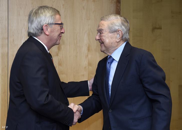 Juncker és Soros egy 2015-ös brüsszeli megbeszélésen