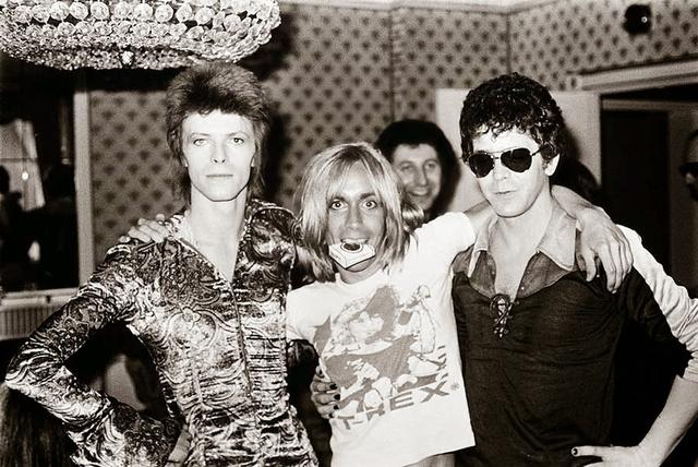 Mindenidők egyik legjobb sztárfotója David Bowieról, Iggy Popról és Lou Reedről. A kép 1972-ben készült a londoni Dorchester Hotelben.