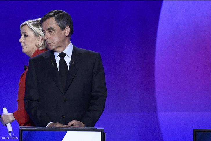 Marine Le Pen és Francois Fillon