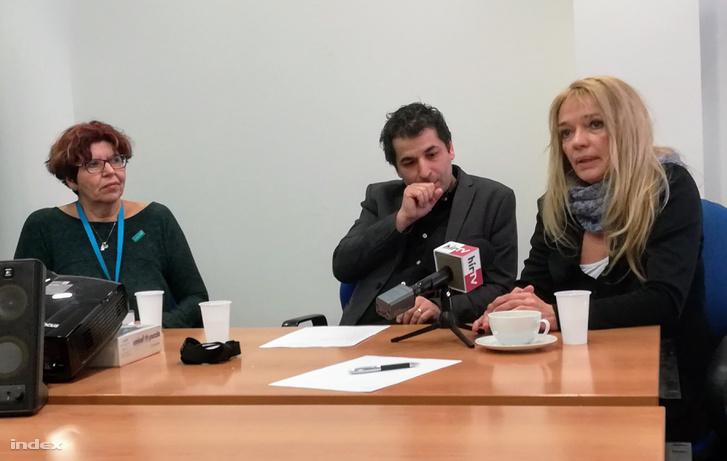 Tausz Katalin, Demetrovics Zsolt és Tari Annamária (balról jobbra).