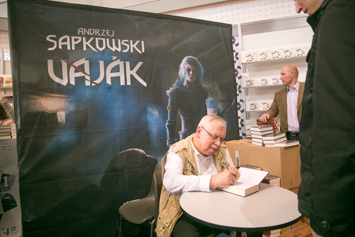 Andrzej Sapkowski dedikál