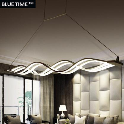 Wave-design-Chandelier-for-dinning-room-Black-White-chandelier-l