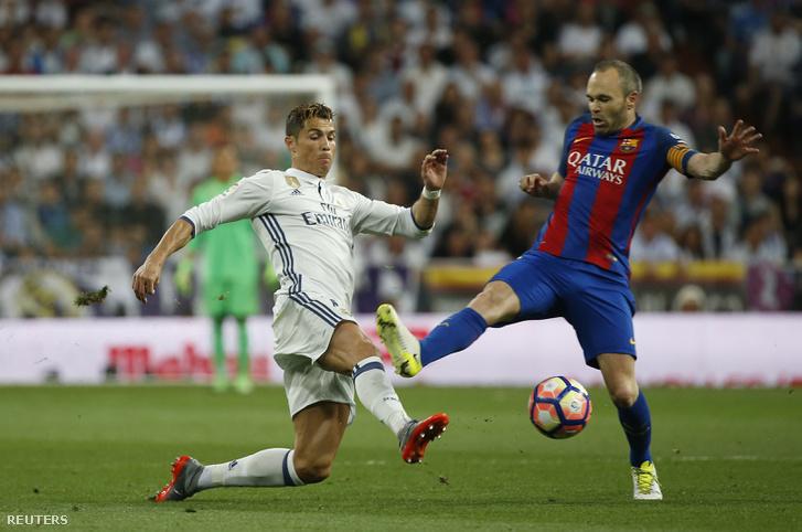Két kulcsember: Cristiano Ronaldo és Iniesta