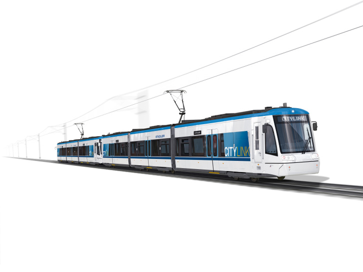 Látványterv az új tramtrainről (forrás: Stadler)
