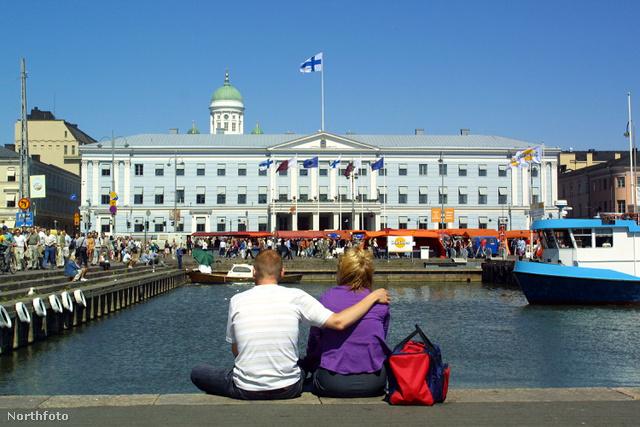 Turisták Helsinkiben