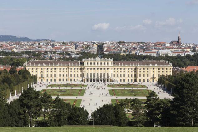 Schönbrunni Kastély parkja