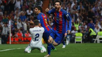 A duplázó Messi futott a legkevesebbet a Clasicón