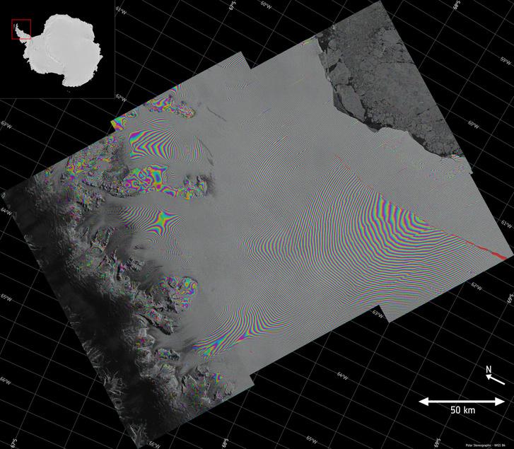 Larsen-C crack interferogram