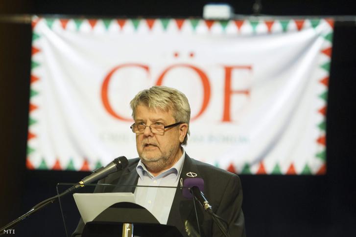 Csizmadia László a Civil Összefogás Fórum (CÖF) elnöke 2015-ben