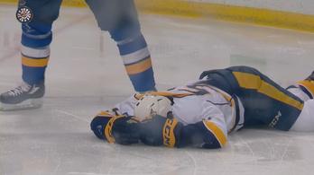 Félbeszakadt a meccs, akkora sérülést szenvedett az NHL-es
