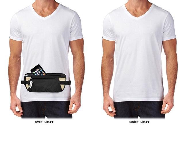 A kép azt mutatja, hogyan bújik meg a póló alatt