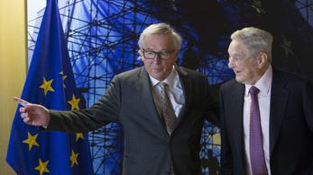 Soros György nem ott érkezett Junckerhez, ahol várták