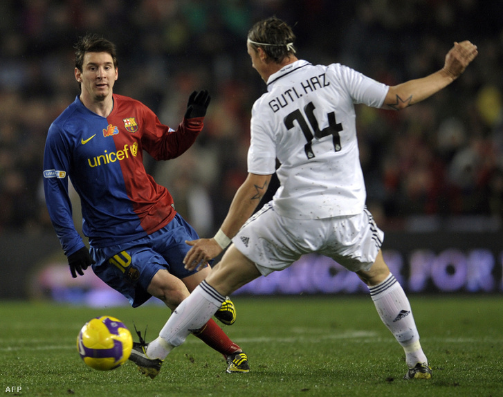 Messi és Guti a 2008-09-es szezonban