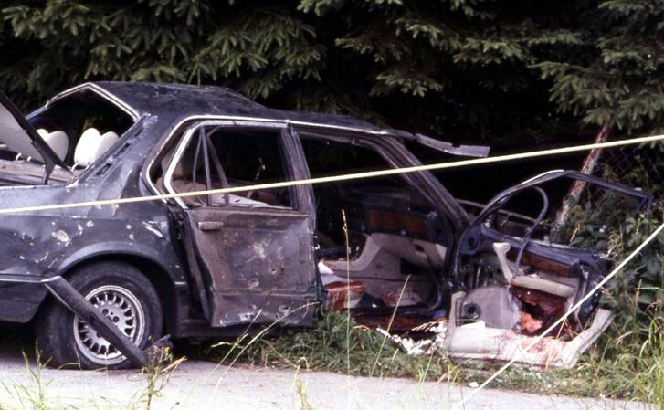 Karl Heinz Beckurst felrobbantott autója