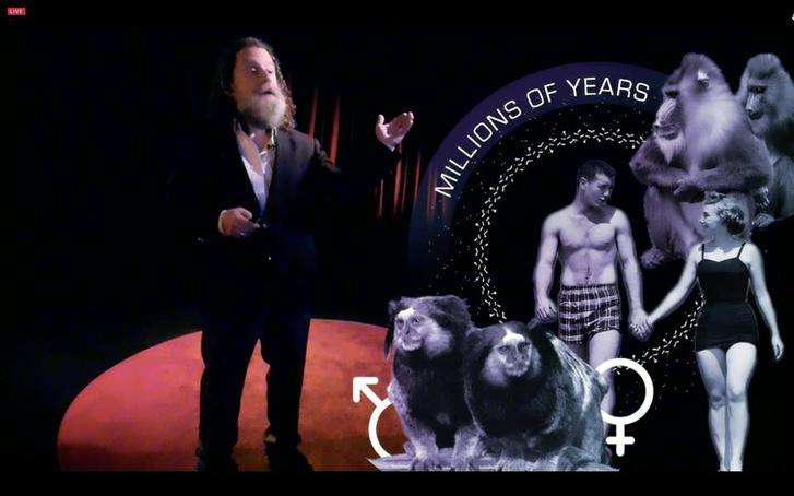 Robert Sapolsky Prezi AR-rel ad elő a vancouveri TED konferencián.