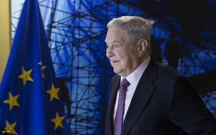 Soros György Brüsszelben, 2017. áprilisában
