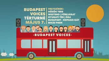 Emeletes busz tetejéről énekel a Budapest Voices