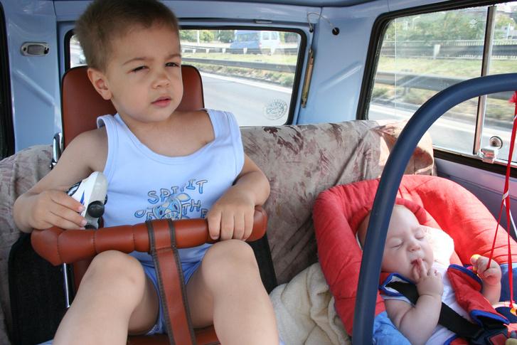 Mivel itt Norbi még nincs egyéves, a kép 2005-ben készülhetett