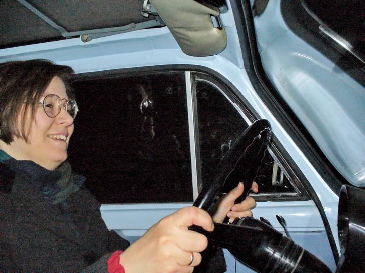 Kati is élvezte, persze, hiszen volt előtte évekig 500-as Fiatja