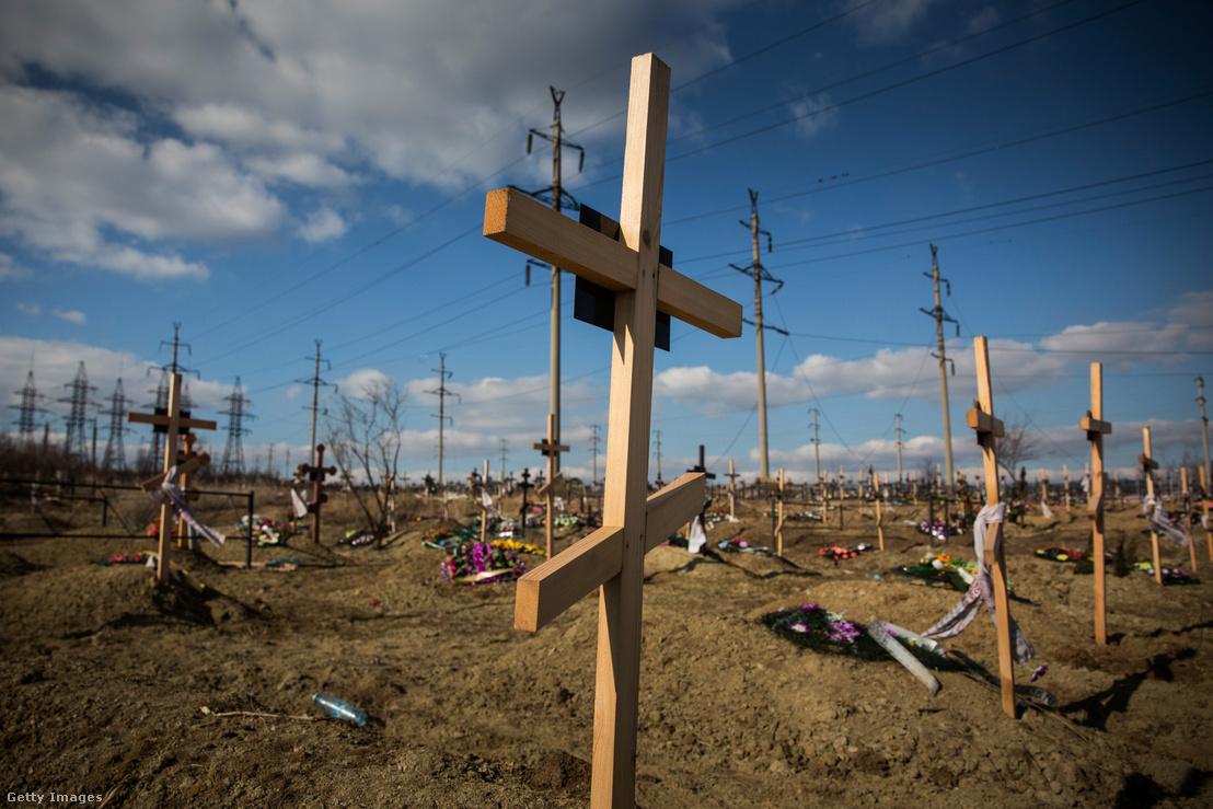 Név nélküli sírok Donyeck közelében