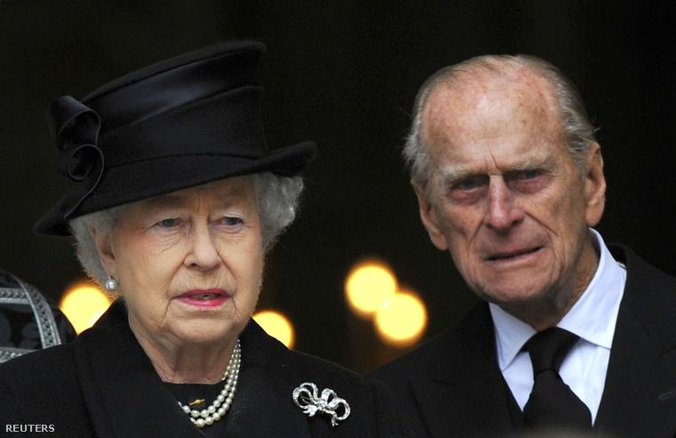 Erzsébet királynő és férje, Fülöp herceg.