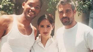 Salma Hayek tökéletes fotót talált George Clooney felköszöntéséhez