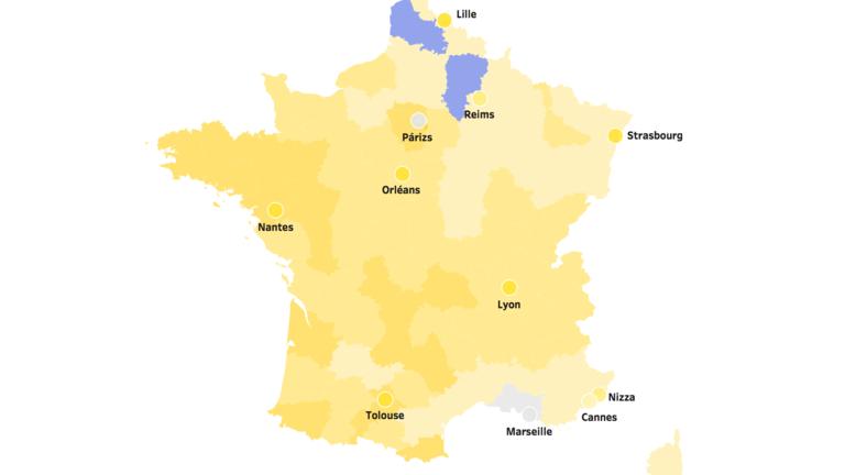 Így színezte be Macron szinte egész Franciaországot