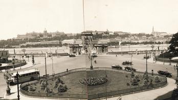 A nap képe: a panoráma a Lánchíddal, 1936-ból