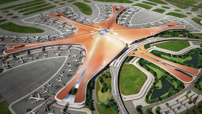 Csillag alakú lesz a világ legnagyobb, 2019-ben nyíló repülőtere
