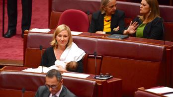 Először szoptatott egy képviselő nyilvánosan az ausztrál parlamentben