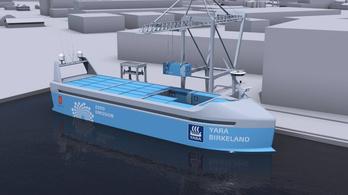 Norvégiában épül a világ első elektromos meghajtású önjáró teherhajója