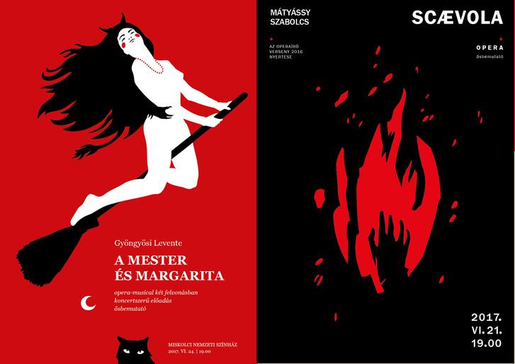 A Mester és Margarita és a Scaevola plakátjai