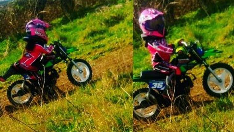 Visszavenné lopott motorját a négyéves kislány