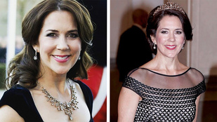 Tiaraként sütötte el nyakláncát Mária hercegnő
