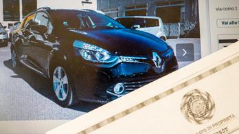 Használt autó kintről: a lopott autó csapdája