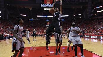 Legjobbja nélkül, idegenben verte szét a Spurs a Rocketset