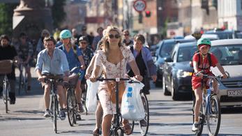 Koppenhágában már csak a lakosság 9%-a autózik rendszeresen
