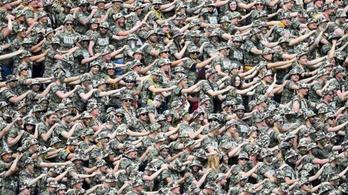 Katonaruhába öltözve tiltakozott 2000 drezdai drukker