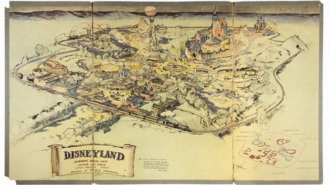 Eladó Disneyland legelső térképe