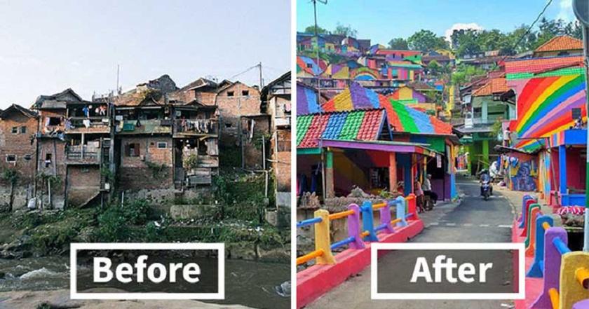 A felújítással a falu gyakorlatilag újjászületett: rá sem lehet ismerni a régi utcaképre.