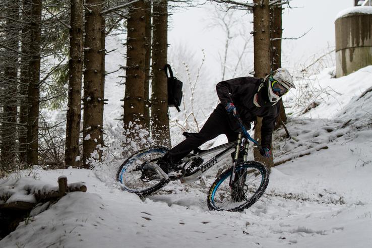 A hó ellenére is tudtunk élvezetesen gurulni