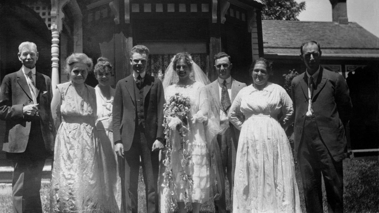 régi esküvő