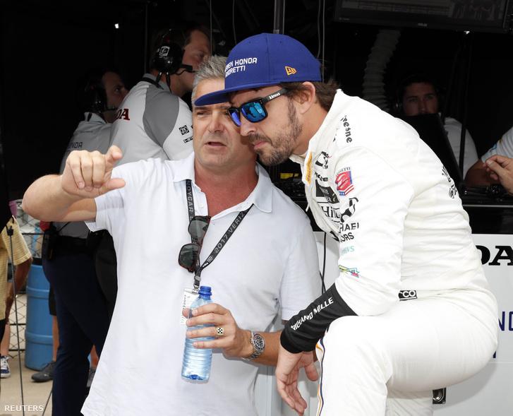 Alonso és indianapolisi mentora, a korábbi Indy 500-győztes, Gil de Ferran