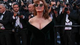 Susan Sarandon gigamellei mellett minden eltörpült Cannes első napján