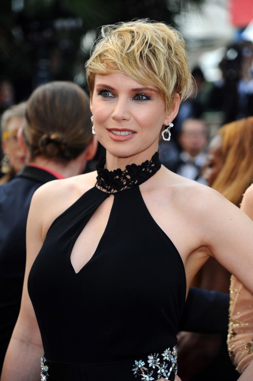 Osvárt Andrea a cannes-i filmfesztiválon bemutatott Loveless premierjén.